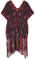 Miguelina Livia Fringed Woven Coverup