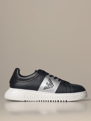 Emporio Armani Sneakers Sneakers In Twill With Logo