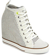 Grommet Wedge Sneakers