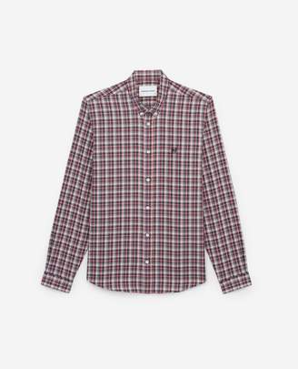 The Kooples Check cotton shirt with classic collar