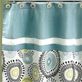Asstd National Brand Popular Bath Suzanni Aqua Shower Curtain