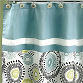 POPULAR BATH Popular Bath Suzanni Aqua Shower Curtain