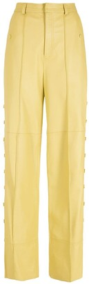 Nk Leather Wide-Leg Trousers