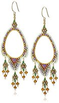 Miguel Ases Topaz Quartz Lavender and Swarovski Open Center Chandelier Drop Earrings