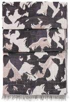 Hugo Boss Nanuk Cotton Botanical Pattern Scarf One Size Patterned
