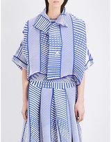 Issey Miyake Tribal-pattern Pleated Jacket