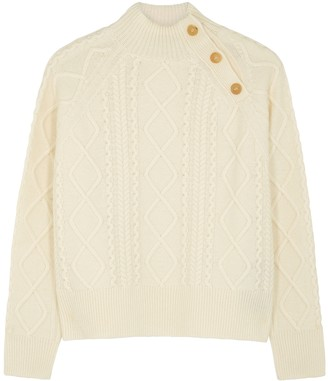 High In Jest cable-knit wool-blend jumper