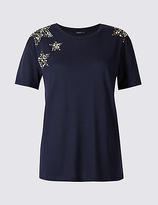 Limited Edition Modal Blend Sparkly Short Sleeve T-Shirt