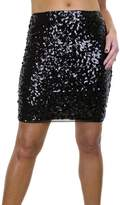 Ice 2548-1) Sequin All Over Stretch Mini Skirt 2-10
