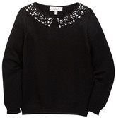 Milly Minis Rhinestone Collar Pullover (Toddler & Little Girls)