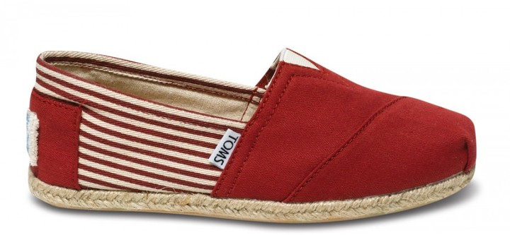 Toms University red rope sole women's classics