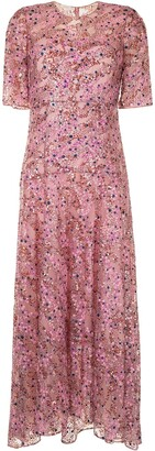 DELPOZO Sequin-Embellished Maxi Dress
