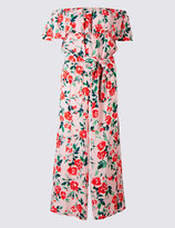 Marks and Spencer Floral Print Bardot Jumpsuit