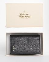 Vivienne Westwood Leather Vertical Wallet - Black