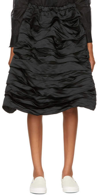 Comme des Garcons Black Layered Ruffled Skirt