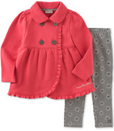 Calvin Klein Baby Girls' 2-Pc. Ruffle Jacket & Floral-Print Leggings Set