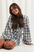 NA-KD Structured Check Dress