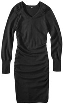 Ultrasoft Mossimo® Women's Ruched Long Sleeve Sweater Dress - Assorted Colors