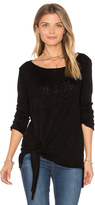 Velvet by Graham & Spencer Gwyneth Tie Front Tee