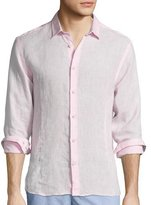 Orlebar Brown Morton Long-Sleeve Linen Shirt, Pink