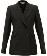Gabriela Hearst Angela Double-breasted Wool-blend Jacket - Womens - Black
