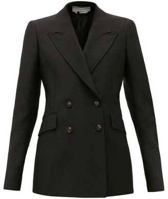 Gabriela Hearst Angela Double-breasted Wool-blend Jacket - Black