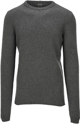 Rick Owens Crew Neck Cashmere Boiled Jumper