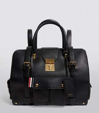 Thom Browne Grained Leather Holdall Backpack