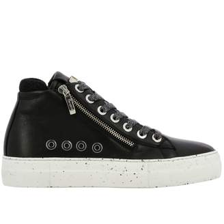 Paciotti 4Us Sneakers Ramones Sneakers In Leather With Macro Zip And Logo