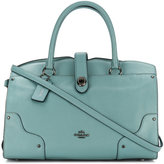 Coach tote bag with turn lock