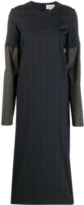 Maison Margiela Checked Two-Tone Dress