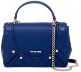 Love Moschino Quilted Convertible Satchel