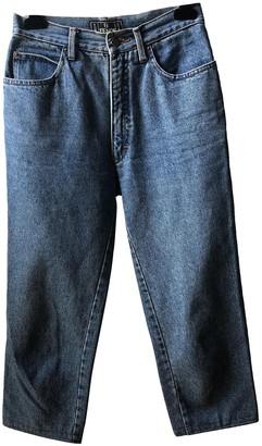 Fendi Navy Cotton Jeans for Women Vintage
