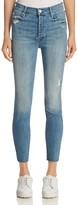 Mother The Stunner Fray Ankle Skinny Jeans in Graffiti Girl