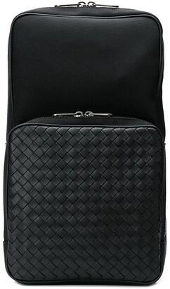 Bottega Veneta Hi-tech canvas sling backpack