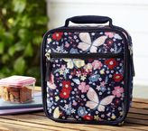 Pottery Barn Kids Mackenzie Navy Floral Lunch Bag