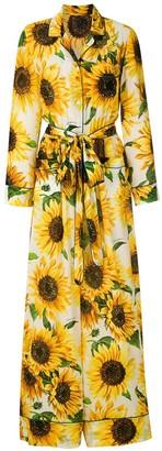 Dolce & Gabbana Sunflower Print Jumpsuit