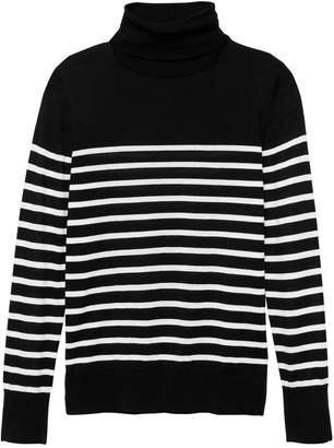 Banana Republic Washable Merino Stripe Turtleneck Sweater