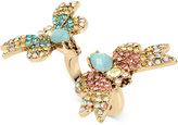 Betsey Johnson Gold-Tone Multi-Crystal Butterfly Ring