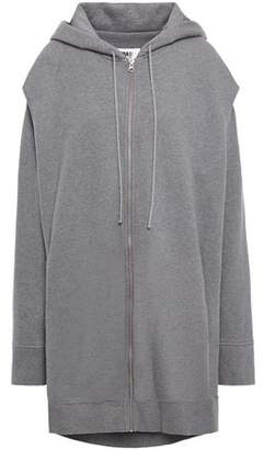 MM6 MAISON MARGIELA Oversized Cutout Printed French Cotton-terry Hoodie
