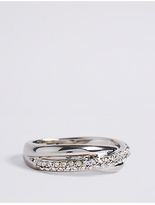 M&S Collection Platinum Plated Russian Ring