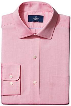 Buttoned Down Men's Classic Fit Spread-Collar Non-Iron Dress Shirt (Pocket),(Big and Tall)