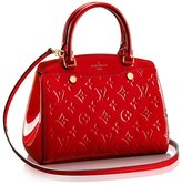 Louis Vuitton Authentic Monogram Vernis Leather Brea PM Handbag Article: M50602 Made in France