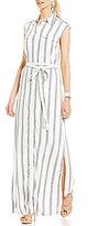 Antonio Melani Garrett Striped Shirting Maxi Dress