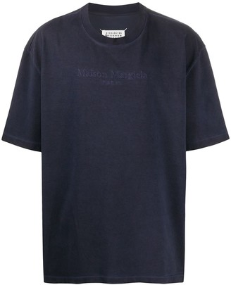 Maison Margiela oversized embroidered logo faded T-shirt