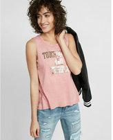 Express touchdowns and tequila graphic muscle tank