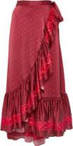 Figue Aurora Ruffle Midi Skirt