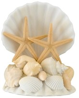 Lillian Rose Starfish and Seashell Wedding Cake Topper