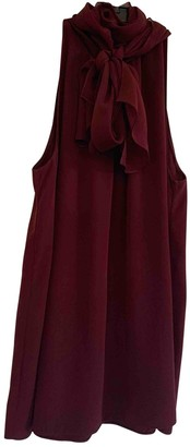 Diane von Furstenberg Burgundy Silk Top for Women