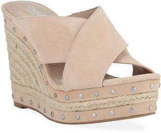 Charles by Charles David Leilani Studded Espadrille Wedge Sandals